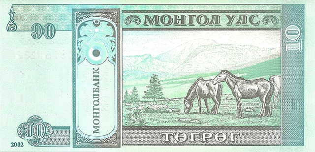 zelená bankovka, koně